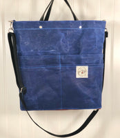 Marine blue Purse Of Pockets