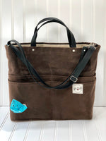 Chocolate brown Travelers Pet Owner's Purse
