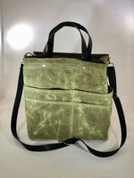 Green tweed Purse Of Pockets - the pop company