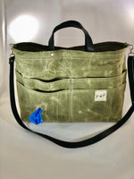 Pup-to-Go Purse, Green tweed - the pop company