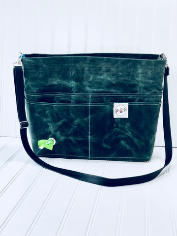 British green travelers Pet Owners Purse dark green