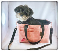 Waxed canvas Pup-to-Go Pet Purse Small - the pop company