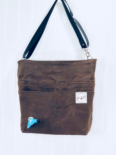 Unisex Pet Owners Purse chocolate brown