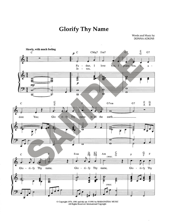 Glorify Thy Name (Download)