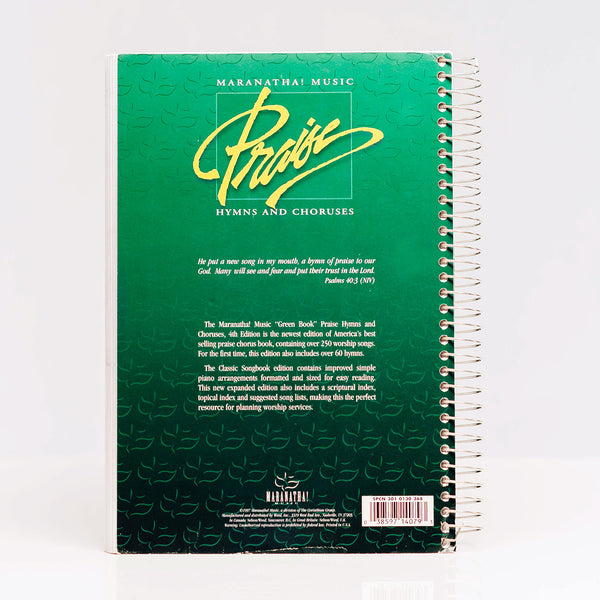 Praise Hymns & Choruses Songbook GREEN (Digital Download)