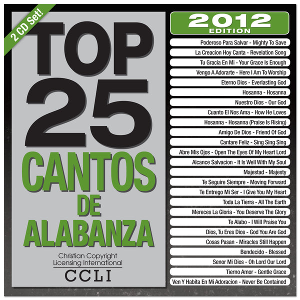 Top 25 Cantos De Alabanza 2012