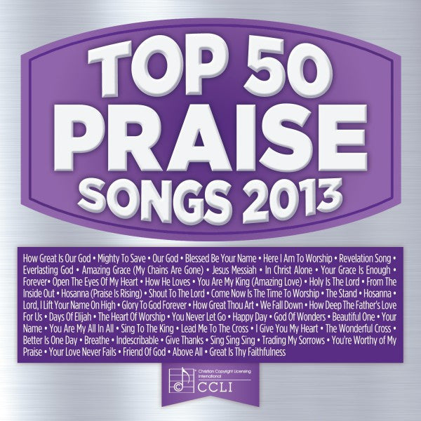 Top 50 Praise Songs 2013