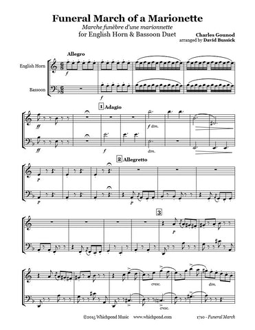 Gounod Funeral March English Horn/Bassoon Duet