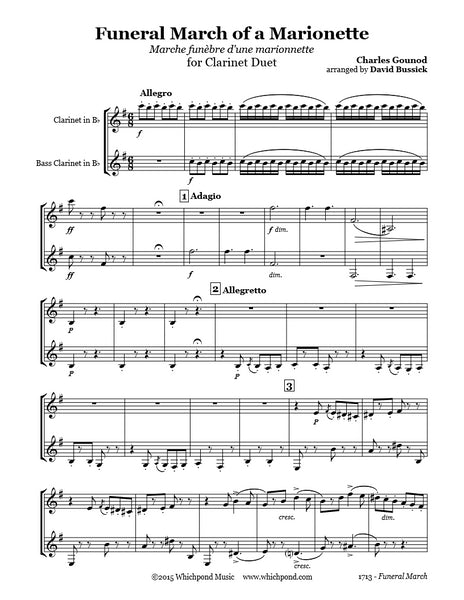Gounod Funeral March Clarinet Duet