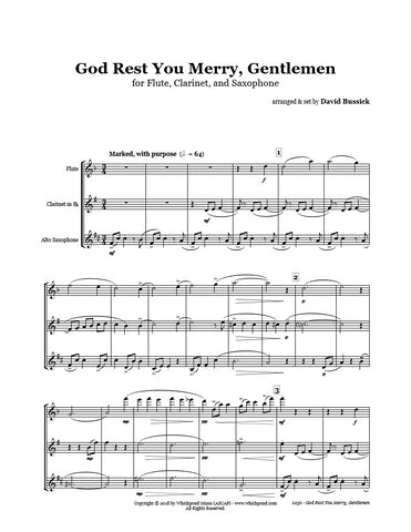 God Rest You Merry Gentlemen Flute/Clarinet/Sax Trio