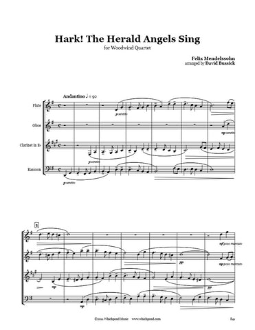 Hark The Herald Angels Sing Wind Quartet