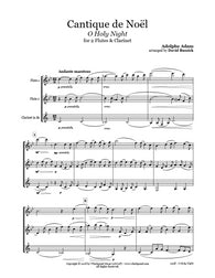 O Holy Night Flute/Clarinet Trio