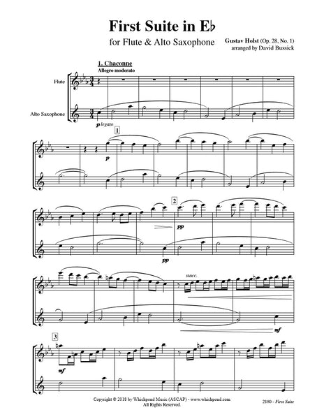 Holst First Suite Flute/Saxophone Duet