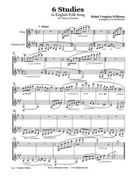 Vaughan Williams 6 Studies Flute/Clarinet Duet