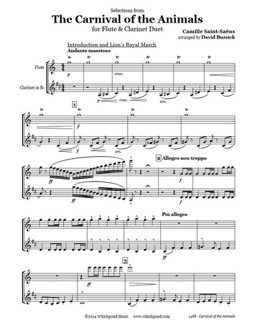 Carnival of the Animals Flute/Clarinet Duet