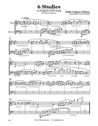 Vaughan Williams 6 Studies Flute/Bassoon Duet