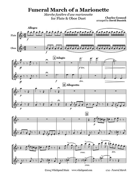 Gounod Funeral March Flute/Oboe Duet