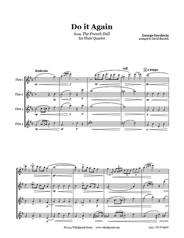 Gershwin Do It Again Flute Quartet
