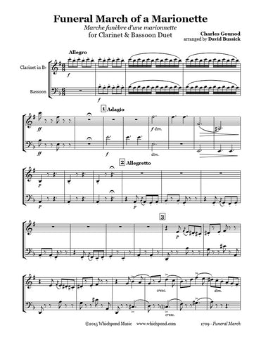 Gounod Funeral March Clarinet/Bassoon Duet