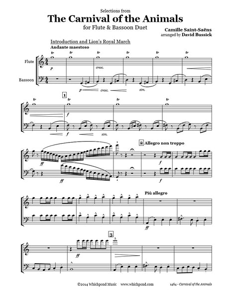 Carnival of the Animals Flute/Bassoon Duet