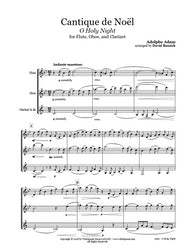 O Holy Night Flute/Oboe/Clarinet Trio