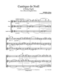 O Holy Night Oboe/English Horn Trio