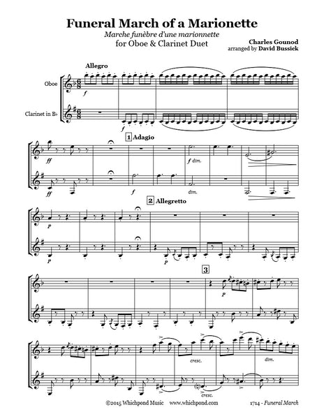 Gounod Funeral March Oboe/Clarinet Duet
