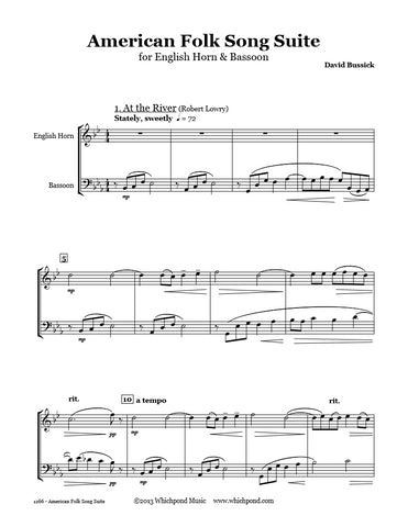 American Folk Song Suite English Horn/Bassoon Duet