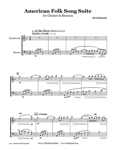 American Folk Song Suite Clarinet/Bassoon Duet