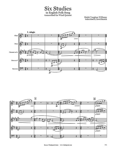 Vaughan Williams 6 Studies Wind Quintet