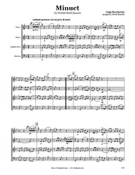 Boccherini Minuet Double Reed Quartet