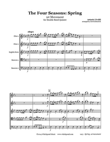 Vivaldi Spring 1st Movement Double Reed Quintet