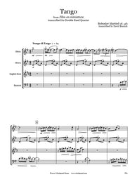 Martinů Tango Double Reed Quartet
