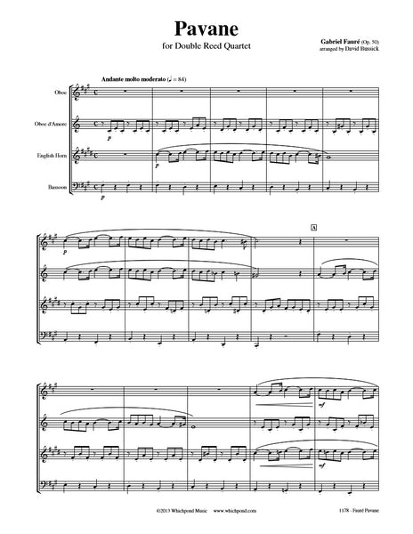 Fauré Pavane Double Reed Quartet