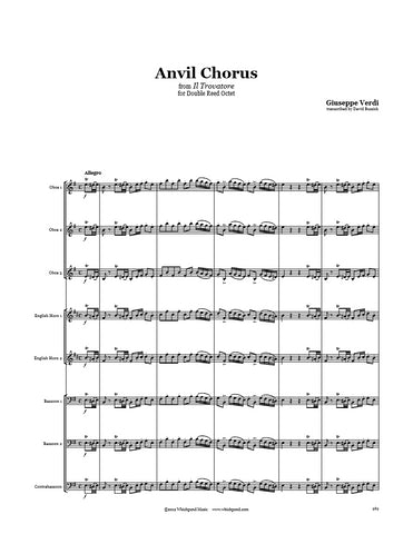 Verdi Anvil Chorus Double Reed Octet