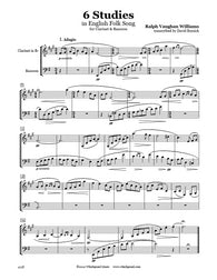 Vaughan Williams 6 Studies Clarinet/Bassoon Duet