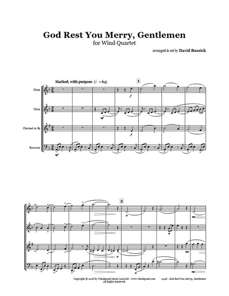 God Rest You Merry Gentlemen Wind Quartet