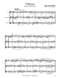 Vaughan Williams 5 Pieces Oboe/Clarinet/Horn Trio