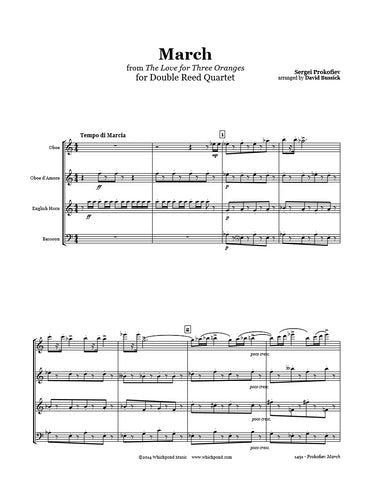 Prokofiev 3 Oranges March Double Reed Quartet