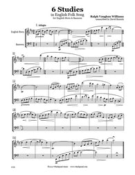 Vaughan Williams 6 Studies English Horn/Bassoon Duet