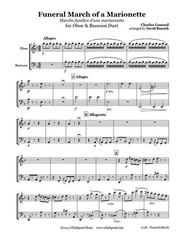 Gounod Funeral March Oboe/Bassoon Duet