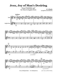 Bach Jesu Joy of Man's Desiring Oboe/English Horn Duet