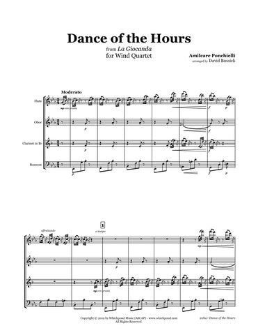Ponchielli Dance of the Hours Wind Quartet