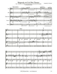 Rhapsody on Civil War Themes Wind Quintet