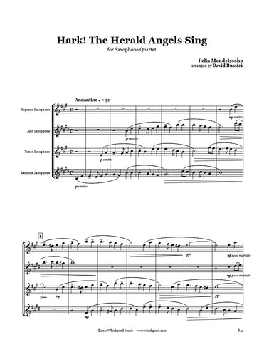 Hark The Herald Angels Sing Saxophone Quartet