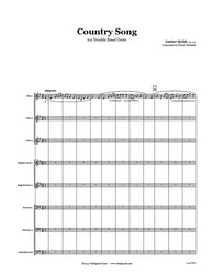Holst Country Song Double Reed Octet
