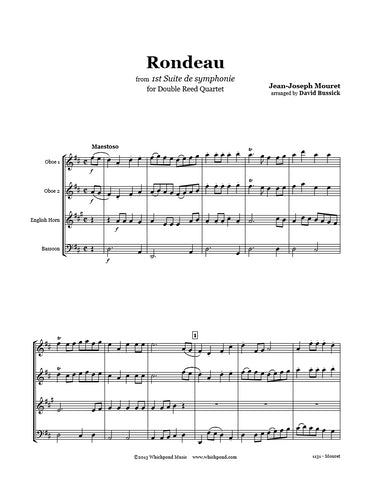 Mouret Rondeau Double Reed Quartet