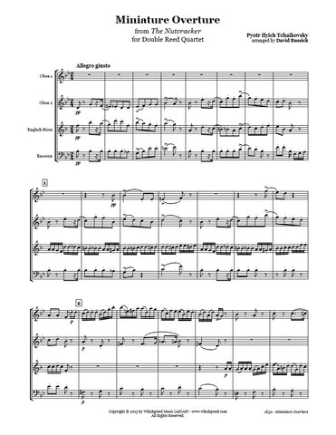 Nutcracker Overture Double Reed Quartet