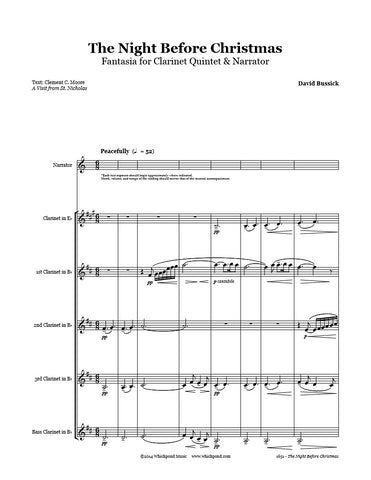 The Night Before Christmas Clarinet Quintet & Narrator