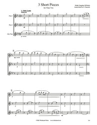 Vaughan Williams 3 Short Pieces Flute/Alto Flute Trio